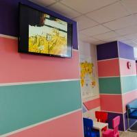 Детское отделение КВД 1 Телевизор с Мультфильмами и детский уголок рисования.